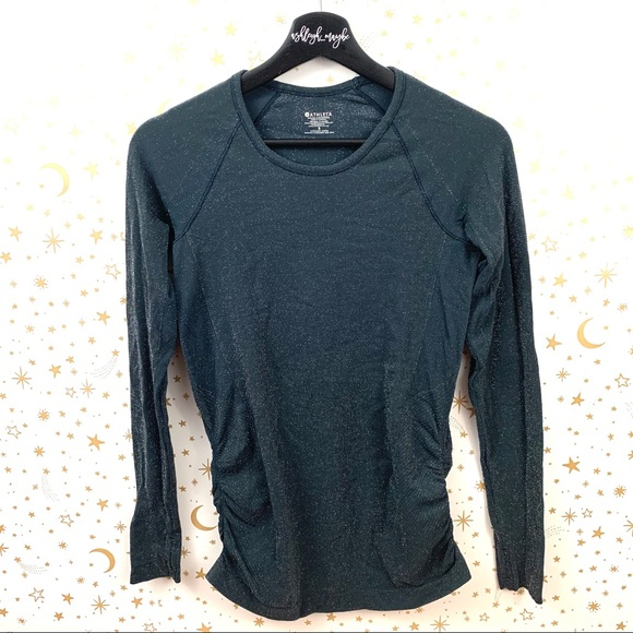 Athleta Tops - Athleta | Speedlight Shine Long Sleeve Sparkle Top